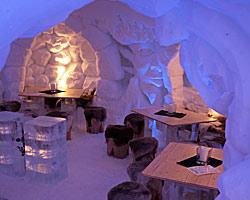 Restaurant-Iglu in der IgluLodge am Nebelhorn