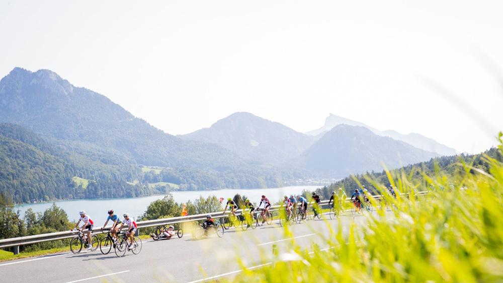 Radfahrer beim Eddy Merckx Classic Radmarathon