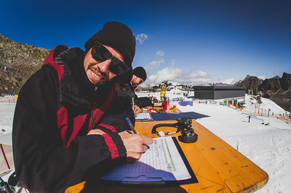 Jury beim Contest am Opening am Kaunertaler Gletscher