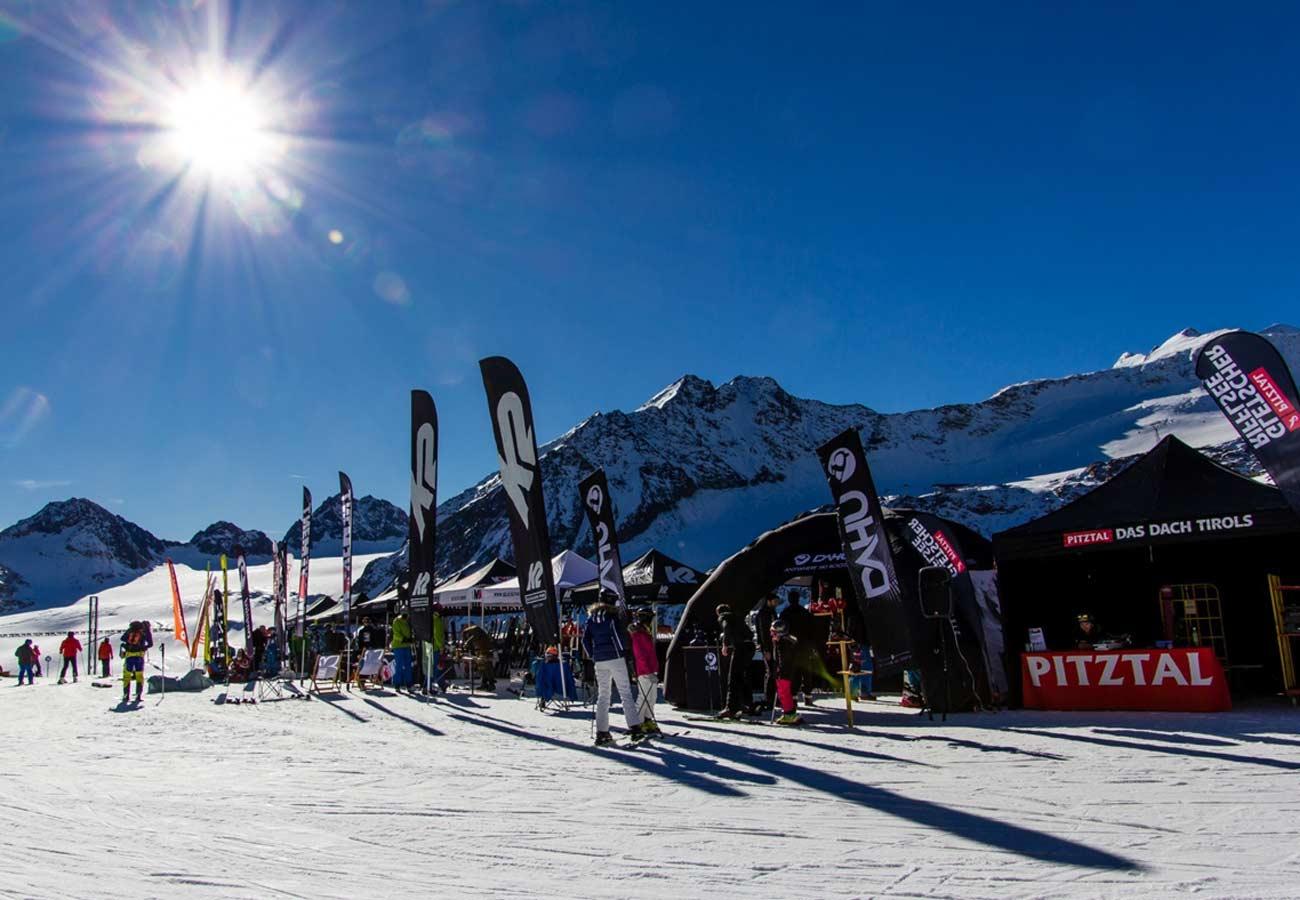 Testival-Area beim Fest Ski & Show am Pitztaler Gletscher