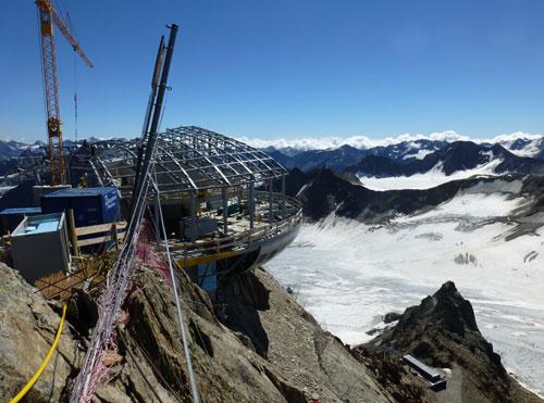 Das Café und die Wildspitzbahn sind die aufwendigsten Bauprojekte der Pitztaler Gletscherbahnen
