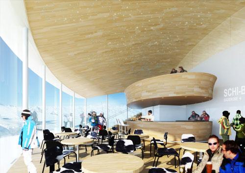 Im Café 3.440 genießt man in luftiger Höhe Kaffeespezialitäten