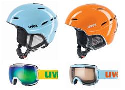 Helme und Skibrillen von Uvex