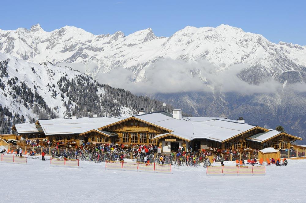 Die Zirbenhütte im Skigebiet Serfaus-Fiss-Ladis