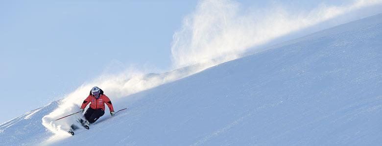 Skifahrer in Malbun