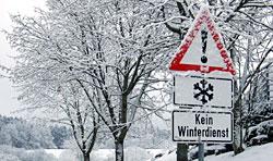 Verkehrsschild Kein Winterdienst