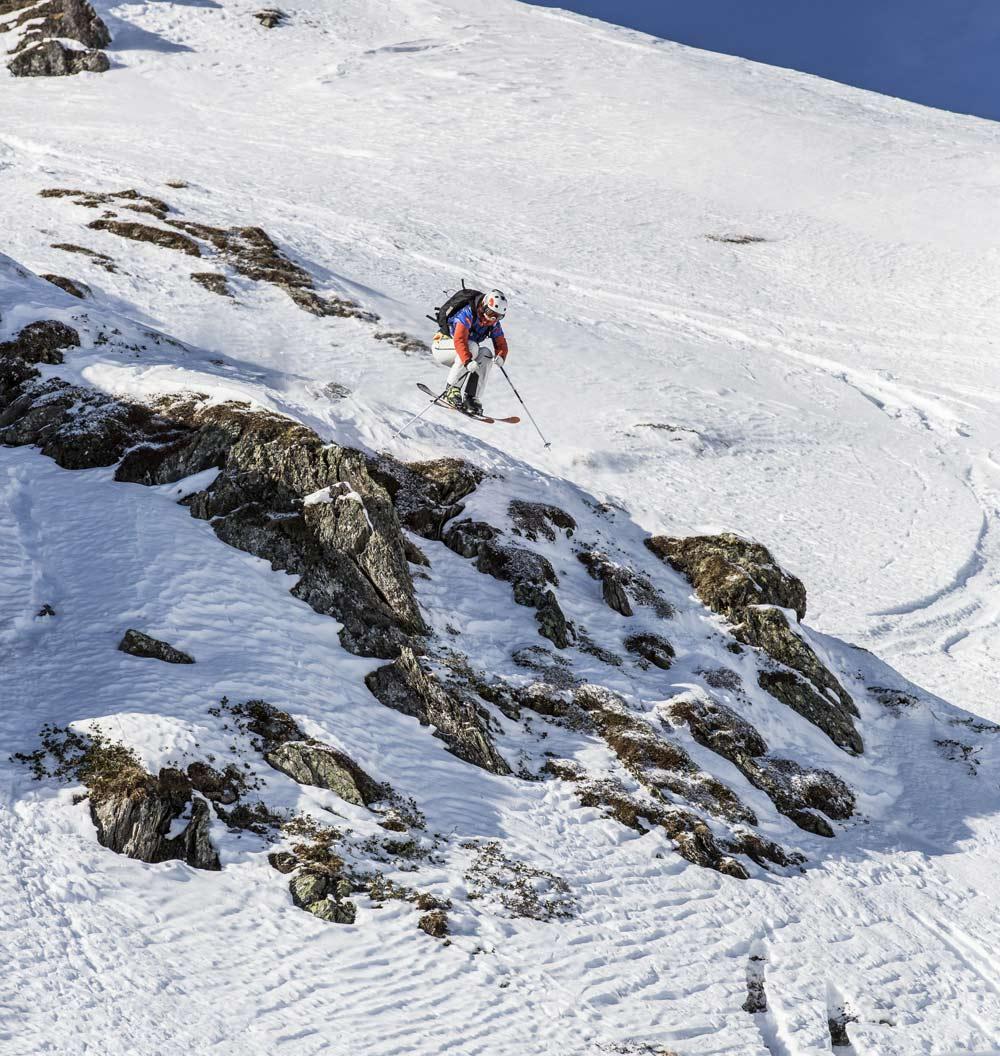 Die Freeride Elite kämpft beim Big Mountain an der Hochfügener Hochwand um wertvolle Punkte