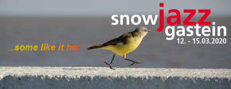 Plakat des Snowjazz Festivals 2020 in Gastein