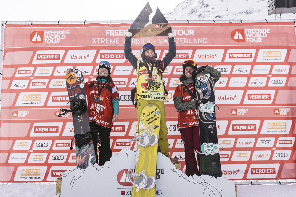 Gewinner bei der Freeride World Tour in Verbier 2018