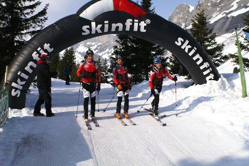 3-er Team beim Skitourenlauf in Kandersteg