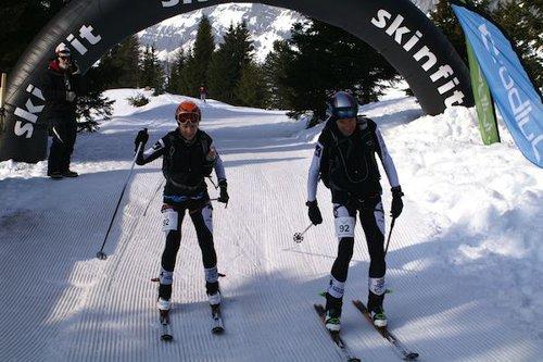 2er-Team beim Skiss Ski Marathon in Kandersteg