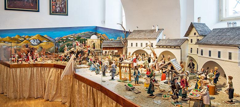Die Weihnachtskrippe im Stille-Nacht-Museum Mariapfarr