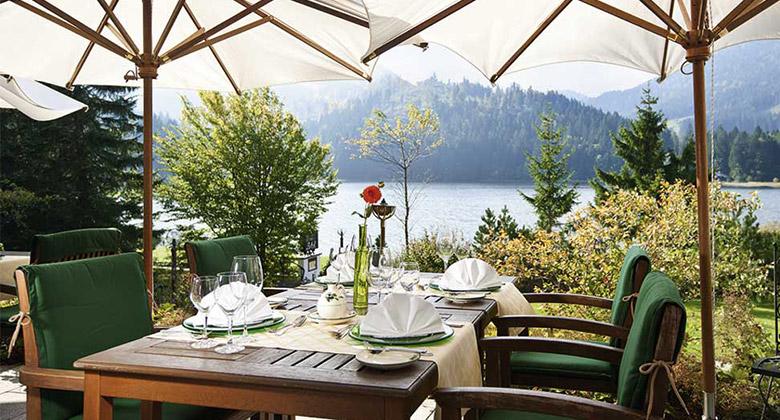 Alpenhotel Spitzingsee Terrasse