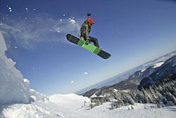 Snowboarden am Feldberg