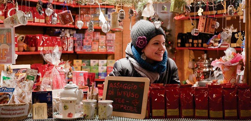 Weihnachtsmarkt-Stand in Brixen