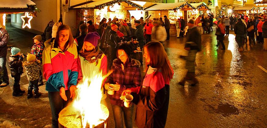 Weihnachtsmarkt-Feuerstelle in Großarltal