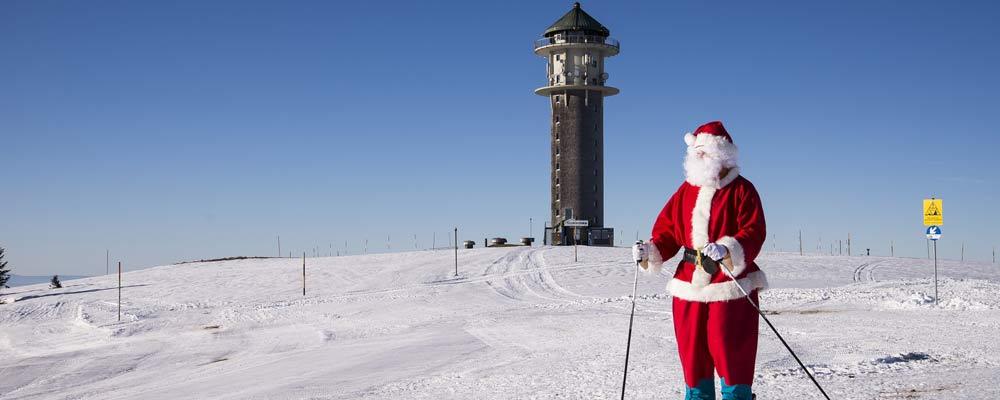 Nikolaus beim Skifahren am Feldberg