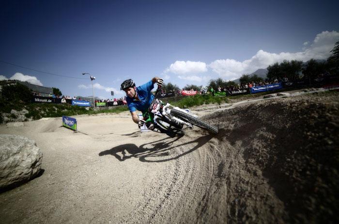 Biker auf der Strecke der Scott Enduro Series