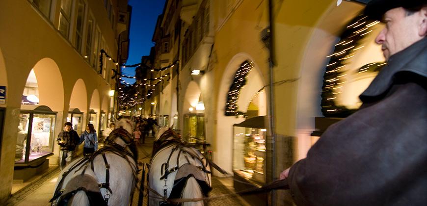Weihnachtskutsche in Bozen