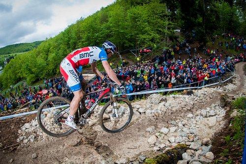 Mountainbiker beim MTB-Weltcup in Albstadt