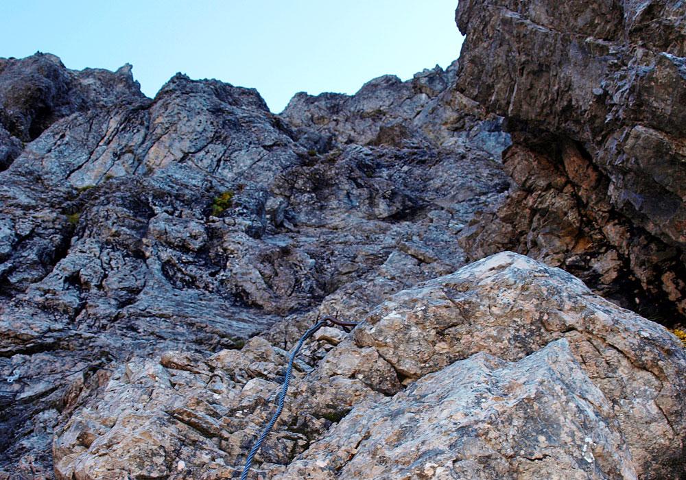 Letzte Kletterei vor dem Zitterklapfen
