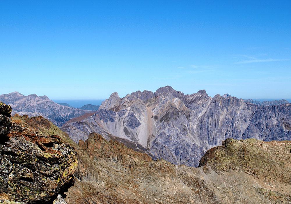 Panorama kurz vor dem Gipfel des Kaltenbergs