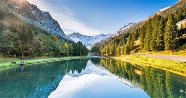 Herrliche Landschaft zum Wandern im Fürstentum Liechtenstein