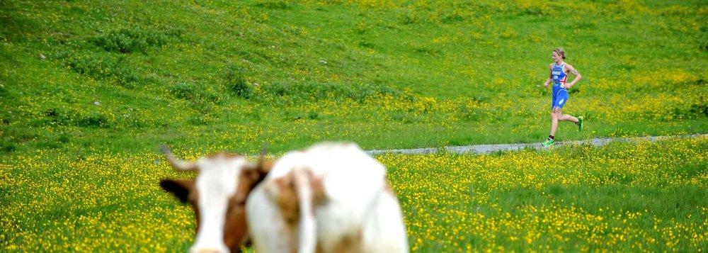 Läufer beim Triathlon in Kitzbühel