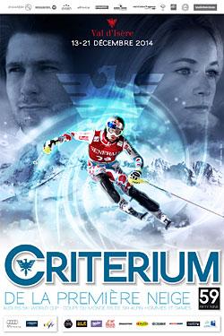 Plakat Ski-Weltcup Val d'Isere 2014