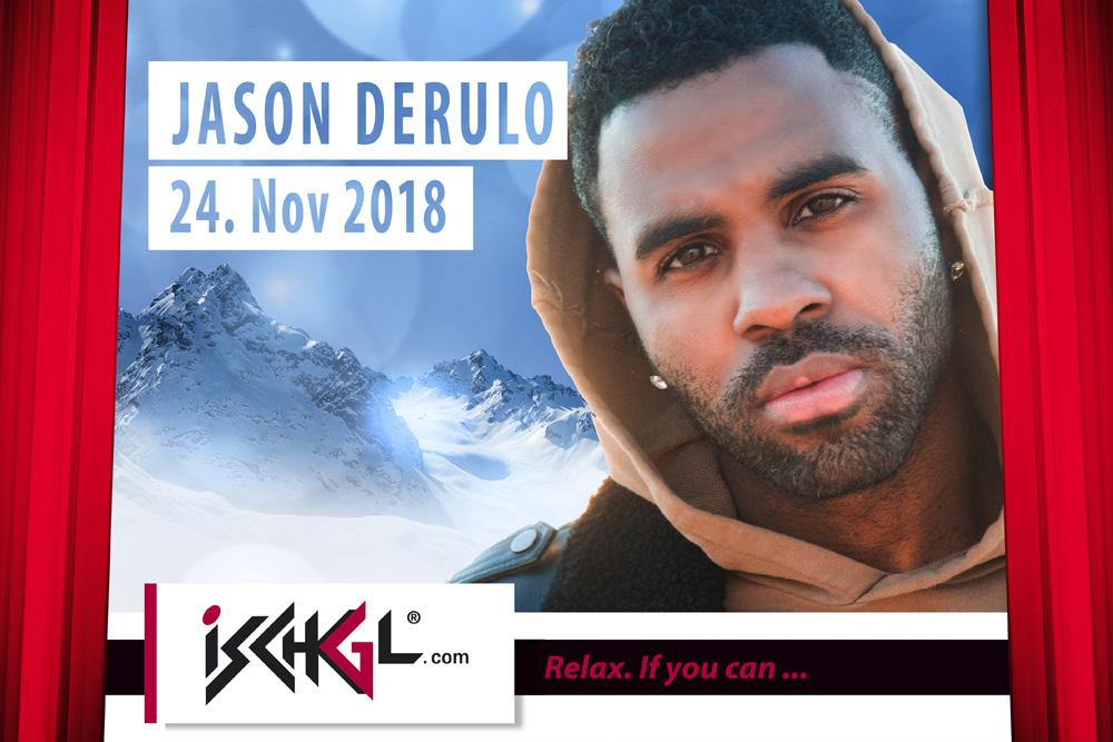 Jason Derulo beim Opening Concert in Ischgl