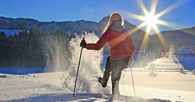 Schneeschuhaction in Inzell