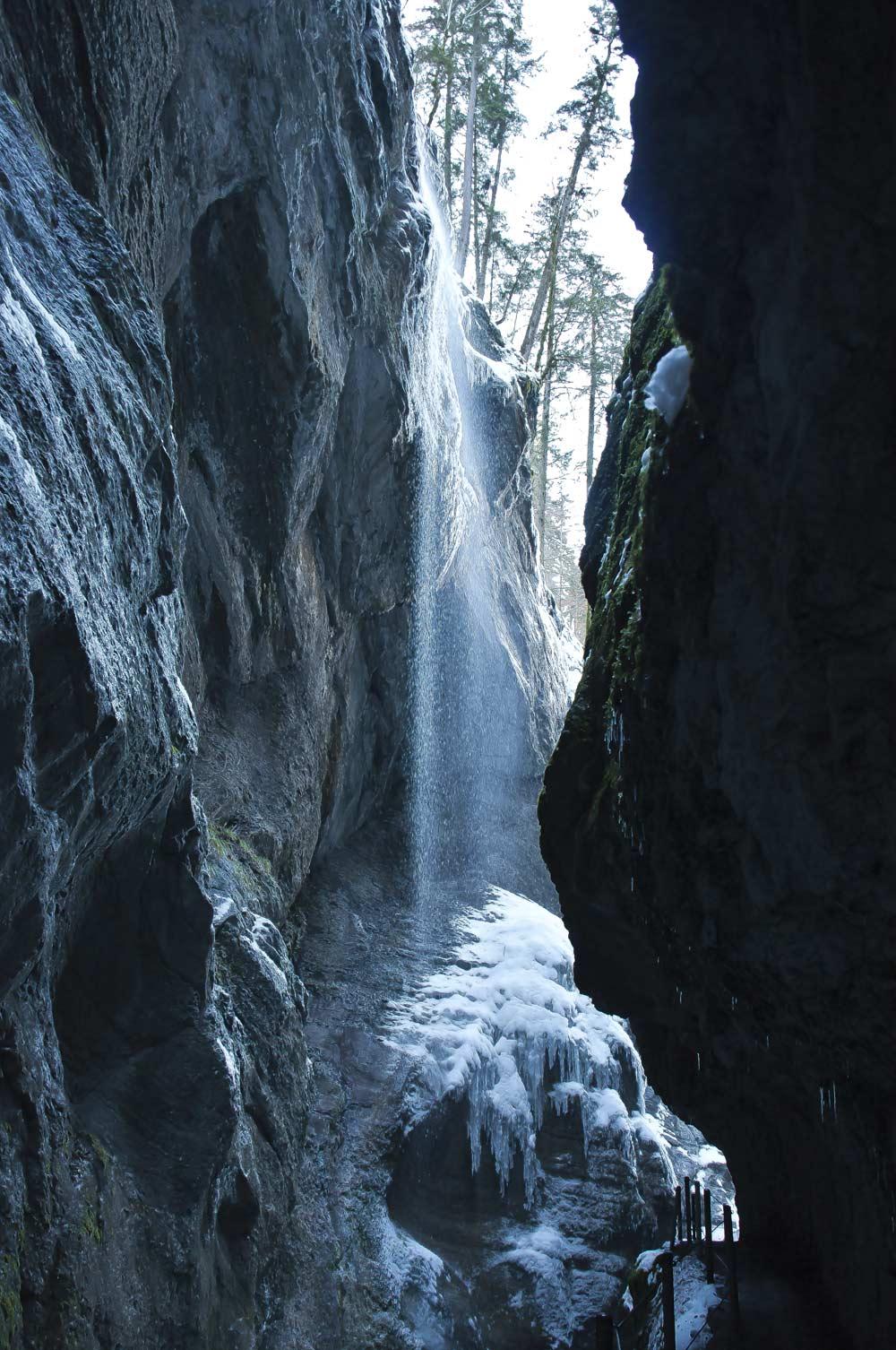 Wasserfall in der Partnachklamm