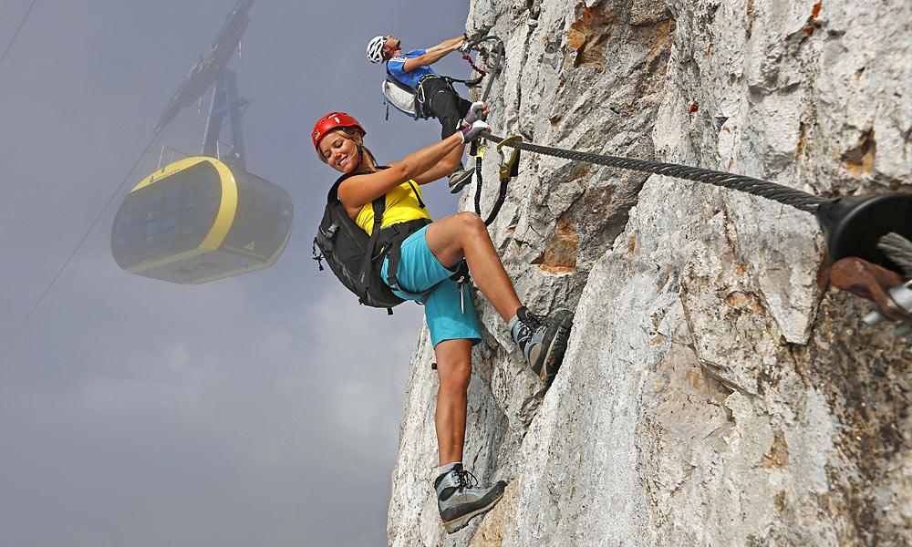 Klettersteigset Mit Seilbremse : Klettersteigset edelrid cable comfort im test