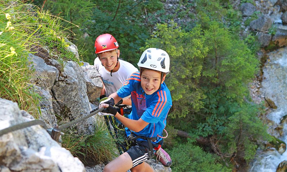 Klettersteig Kinder : Mächtig stolz waren die kinder im rahmen des reit winkler