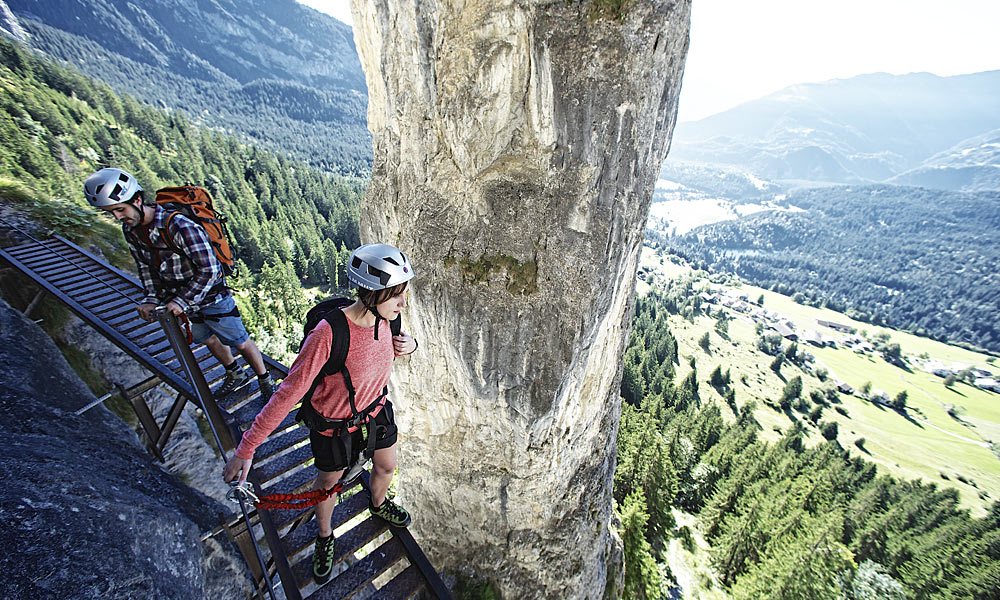 Klettersteig Switzerland : Klettersteige für jedermann alpen guide