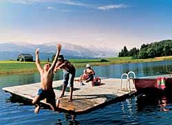 Schwimminsel im Schönenbodensee