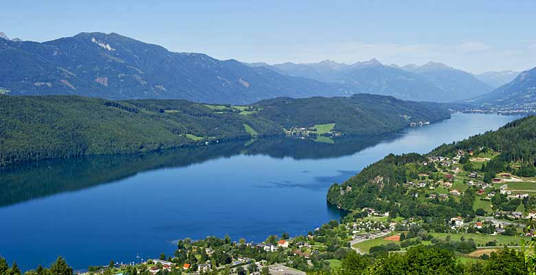 Der Millstätter See in Kärnten
