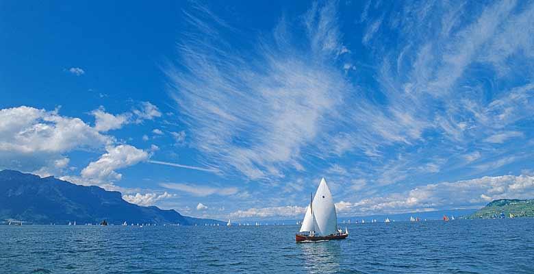 Segelboot auf dem Genfersee