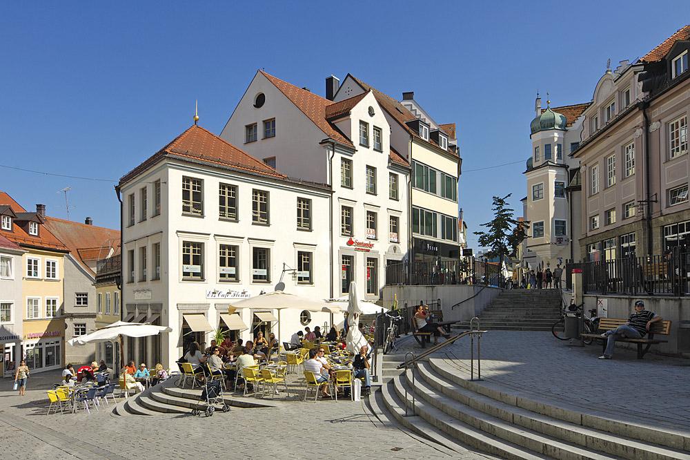 Der Klostersteig in der Kemptner Fußgängerzone © Stadt Kempten (Allgäu)