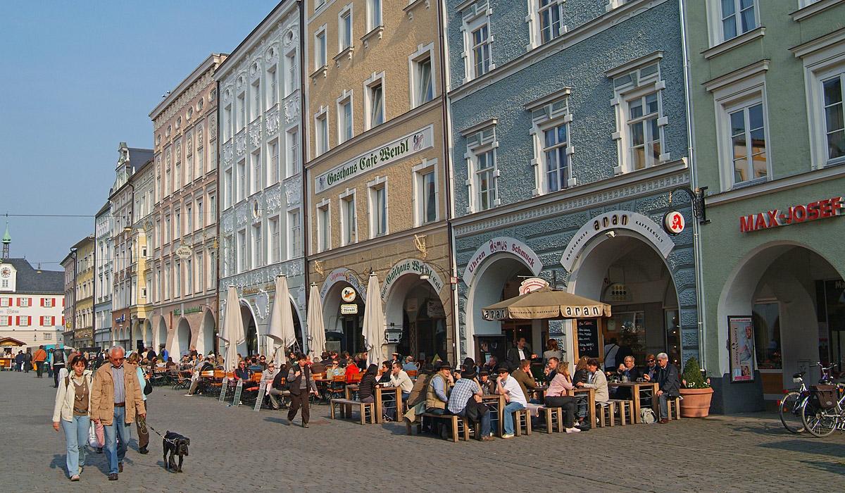 Blick auf die Rosenheimer Altstadt © Stadt Rosenheim