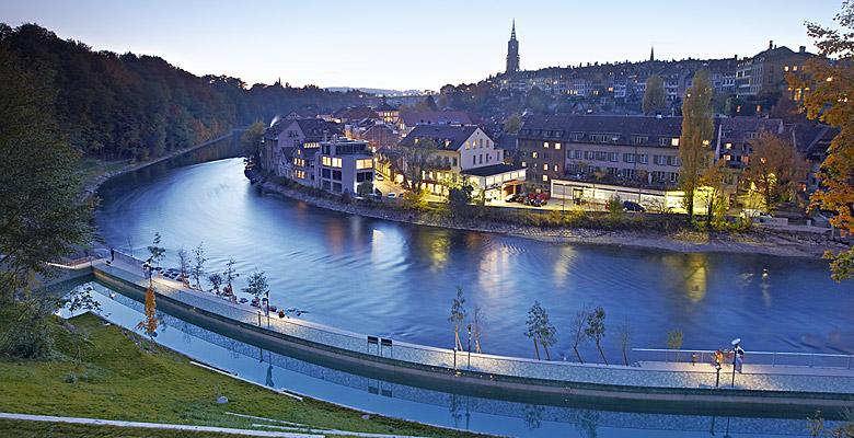 Blick auf die Altstadt von Bern