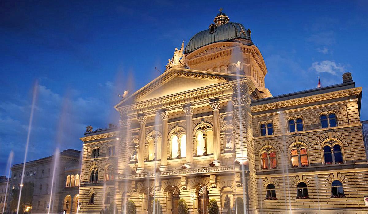 Das Bundeshaus Bern mit Sitz von Parlament und Regierung © Bern Tourismus