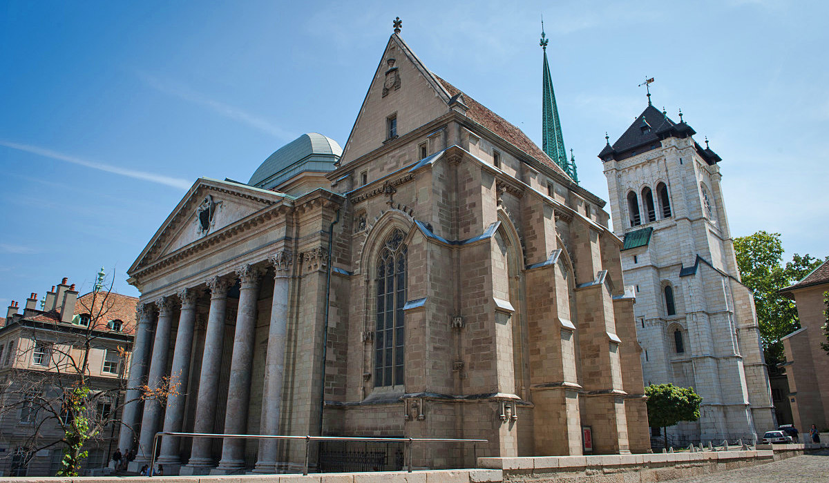 Die Kathedrale St. Peter in Genf © GeneveTourisme OlivierMiche
