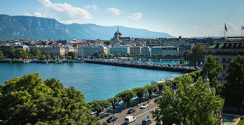Blick auf Genf