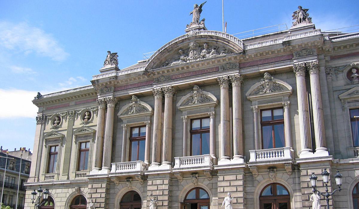 Das Gebäude des Grand Theatre in Genf © GeneveTourisme