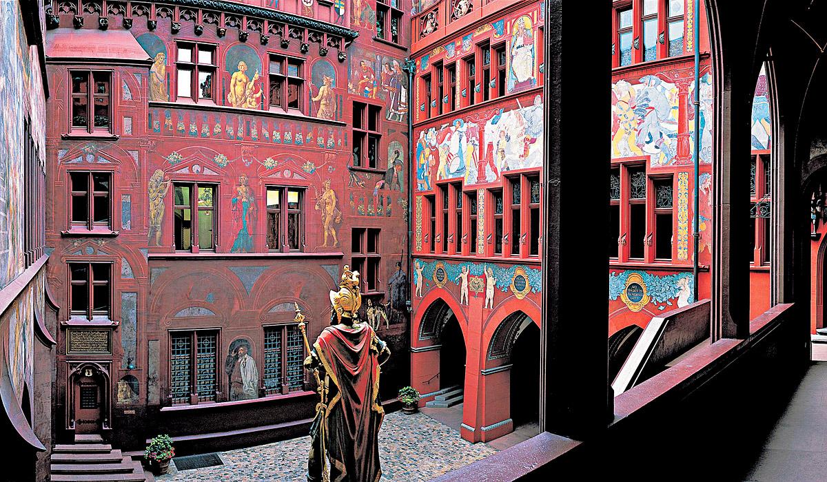 Der Innenhof des Basler Rathauses © Standortmarketing Basel