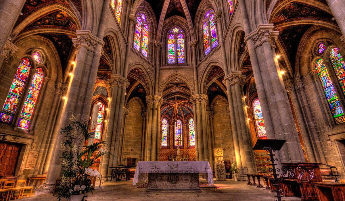 Das Innere von Notre Dame in Genf © GeneveTourisme