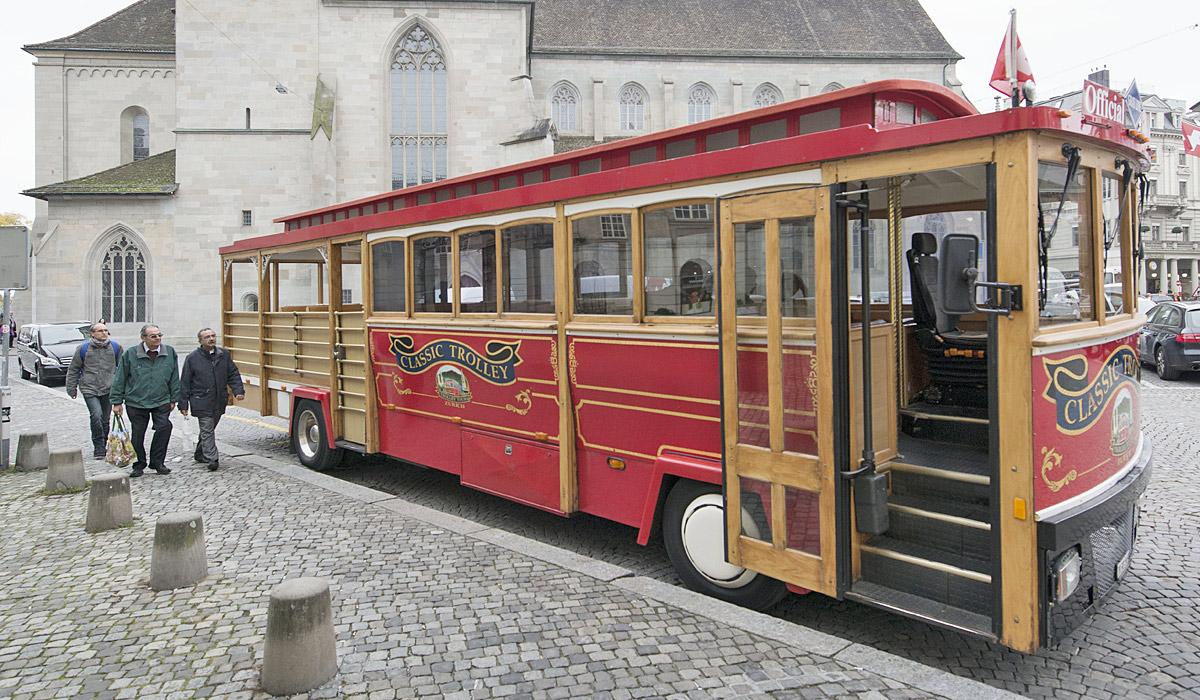 Mit dem Trolleybus Zürich erkunden © Zürich Tourismus / Christian Beutler