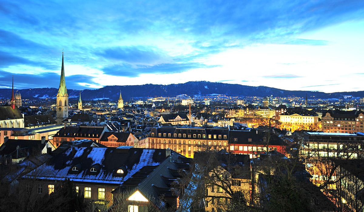 Blick über Zürich © Zürich Tourismus