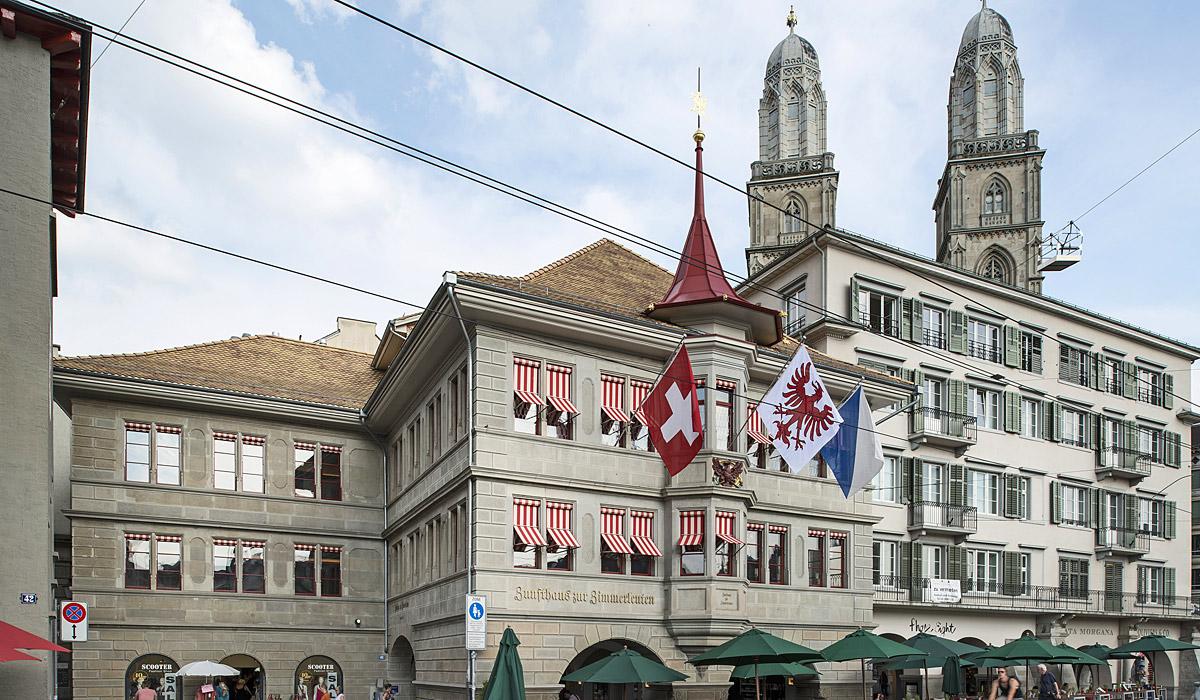 Das Züricher Zunfthaus zur Zimmerleuten © Zürich Tourismus / Christian Beutler
